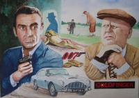 Sean Connery et Gert Fröbe