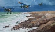 tableau scene de genre luftwaffe quiberon bombardier : Henschel 123