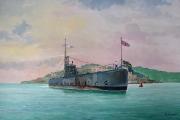 tableau marine royal navy british submarine gr plymouth sound : HMS Grampus