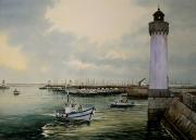 tableau marine presqu ile de q phare port de peche bretagne : Port Haligen