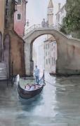 tableau paysages venise : La gondole