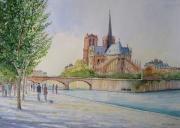 tableau villes paris cathedrale : Notre-Dame de Paris