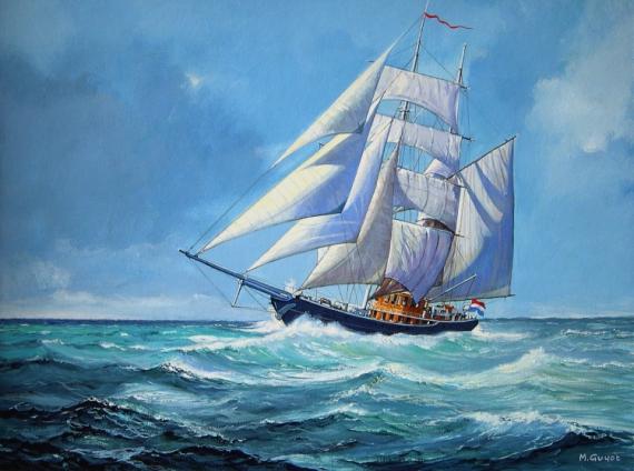 TABLEAU PEINTURE  - Pacific sail