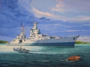 tableau marine us navy croiseur guerre du pacifique iles mariannes : USS Indianapolis