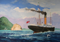 Le vapeur Roraima en Martinique.