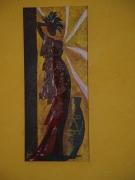tableau personnages femme vase afrique ailleurs : POSE AFRICAINE