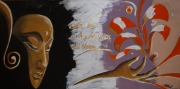 tableau autres bouddha meditation lotus evasion : MEDITATION