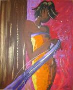 tableau personnages femme africaine mode emotion : FEMINITE