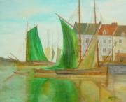 tableau : voilier au port