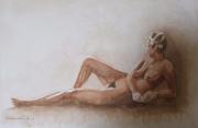 tableau nus : NU ALLONGE