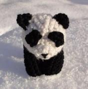 artisanat dart animaux amigurumi panda crochet capcrochet : Panda