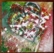 tableau abstrait coeur amour mouvement abstrait : L'EX-pression