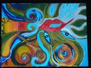 tableau abstrait oeil arbre couleurs abstrait : PRAIRIE JAUNE
