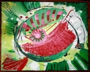 tableau abstrait musique oeil abstrait nature : be RIME bao