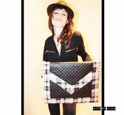 """art textile mode autres kitsch elegant decontracte unique : La pochette oversized """"Cocokitsch"""""""