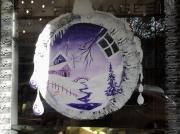 tableau noel decoration vitrine peinture : noel groupama