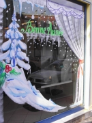 deco design : vitrine de noel.rideaux