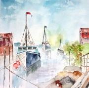 tableau marine bateaux mer halifax : Halifax