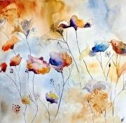 tableau fleurs fleurs semiabstrait : Printemps