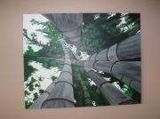 tableau : forêt de bambous