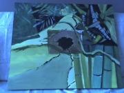 tableau abstrait : Abstrait bambous 3