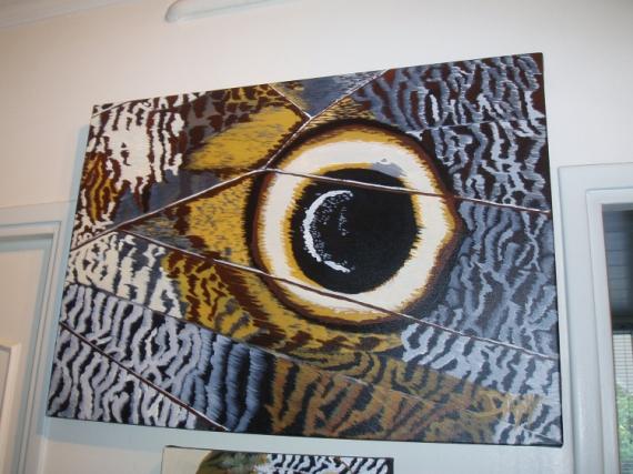 TABLEAU PEINTURE  - oeil de papillon