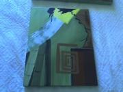 tableau abstrait : Abstrait bambous 2