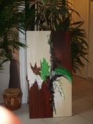 painting : bois vert