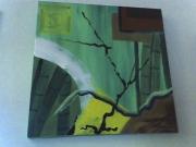 tableau abstrait : Abstrait bambous 1