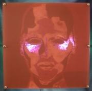 deco design personnages portrait luminaire design visage : ELECTRIC FACE éclairé