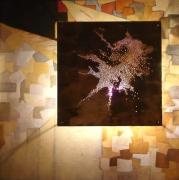 deco design abstrait tableau tableau lumineux creation originale oeuvre originale : ECLATEMENT (éclairé)