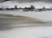 tableau paysages contemporain : november rain
