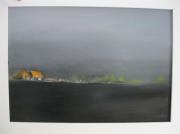 tableau paysages contemporain : les grises barriéres