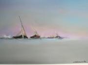 tableau marine contemporain : terres d'opale