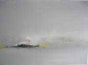tableau abstrait paysage contemporain : dunes