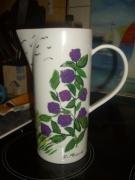 ceramique verre paysages hortensias : Les Hortensias