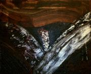 tableau abstrait abstrait ame noir matiere : Ame