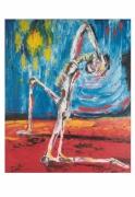 tableau personnages soleil afrique chaleur famine : Soleil noir