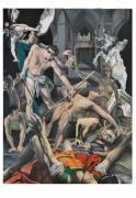 tableau scene de genre allegorie catalogne religion sorcieres : St Abdon et St Sennen