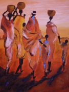 tableau : famille d'afrique