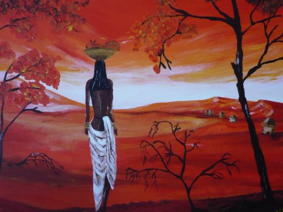 TABLEAU PEINTURE  - africaine