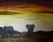 tableau : elephants