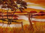 tableau : girafes