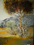 tableau paysages arbres nature puissance matiere : LES ARBRES
