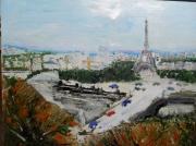 tableau villes paris tour eiffel ville capitale : PARIS
