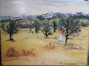 tableau paysages ceuillette paysage montagne sud : LA CEUILLETTE