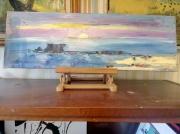 tableau marine fort le portel marine paysage : FORT DE L HEURE