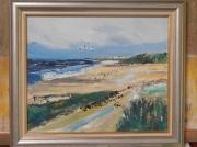 tableau paysages pies mer portel plage : LES PIES