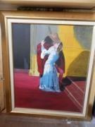 tableau personnages amour francesco hayez copie : le baiser