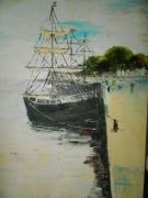 tableau marine voiliers port naussica boulogne sur mer : LE PORT